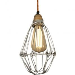 RETAIL LIGHTING SPOTS - SUSPENDED LIGHTS : Hanging lamp with twisted cotton thread