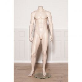 MALE MANNEQUINS - DISPLAY MANNEQUINS HEADLESS  : Headless male mannequin skin color