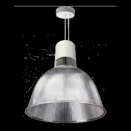 RETAIL LIGHTING SPOTS - SUSPENDED LIGHTS : Industrial suspended led light 6000lm 4000k 41cm