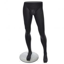 ACCESSOIRES MANNEQUIN VITRINE : Jambes de mannequin homme couleur noire