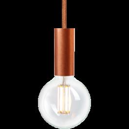 LAMPADE SPOT PER NEGOZI - LAMPADE A SOSPENSIONE LED : Lampadina a filamento led con sospensione in rame