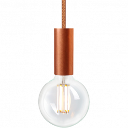 RETAIL LIGHTING SPOTS - SUSPENDED LED LIGHTS : Led filament bulb with copper suspension