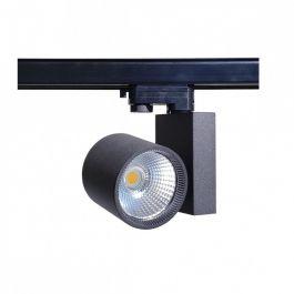 PROFESSIONELL SPOT LAMPEN - CLUSTER-SPOTS LED : Led schienenstrahler 30 w 3-phase spirit schwarz