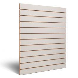RETAIL DISPLAY FURNITURE : Light grey grooved panel 10 cm
