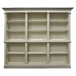 COUNTERS DISPLAY & GONDOLAS - CLASSICAL COUNTERS DISPLAY : Light wood cabinet with shelves 250cm