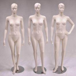 MANNEQUINS VITRINE FEMME - MANNEQUINS STYLISéS : Lot de 3 mannequins femme stylisé coloris chair
