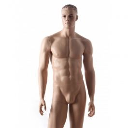MALE MANNEQUINS - REALISTIC MANNEQUINS : Male mannequin with make up skin color