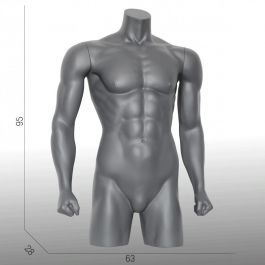 MALE MANNEQUIN BUST - SPORT TORSOS AND BUSTS : Male sport torso with beginning legs