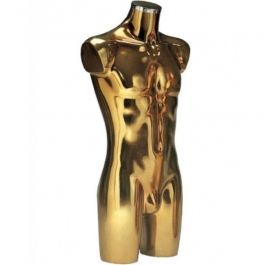 MALE MANNEQUIN BUST - PLASTIC BUSTS : Male torso gold finish