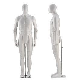 MANICHINI UOMO - MANICHINI FLESSIBILI : Manichini uomo flessibili de color grigio
