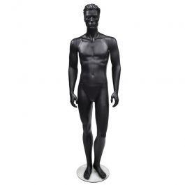 MANICHINI UOMO - MANICHINI STILIZZATI  : Manichino nero uomo con testa stilizzati