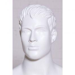 MANIQUIES HOMBRE - MANIQUI ESCULPIDOS : Maniqui hombre con rasgos color blanco