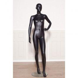 Maniquies sin rasgos  Maniqui senora con cabeza semi abstracto color negro Mannequins vitrine