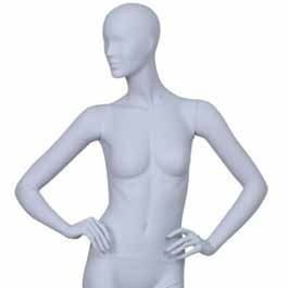 Maniquies sin rasgos  Maniquies senora cabeza abstracto ICE02 Mannequins vitrine