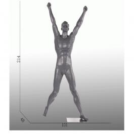 HERREN SCHAUFENSTERFIGUREN - SCHAUFENSTERPUPPEN SPORT  : Mann shaufensterfiguren cheerleader