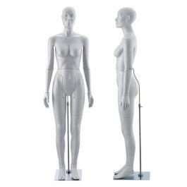 MANNEQUINS VITRINE FEMME - MANNEQUIN FLEXIBLE : Mannequin de vitrine flexible coloris gris