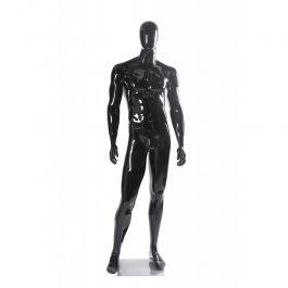 MANNEQUINS VITRINE HOMME - MANNEQUINS ABSTRAITS : Mannequin économique noir brillant