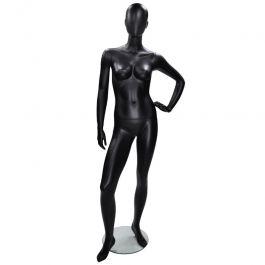 MANNEQUINS VITRINE FEMME - MANNEQUINS ABSTRAITS  : Mannequin femme abstraite main sur la hanche noire