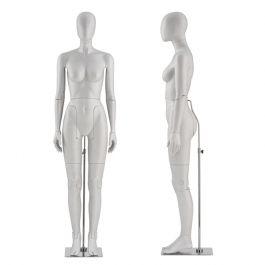 MANNEQUINS VITRINE FEMME - MANNEQUIN FLEXIBLE : Mannequin flexible coloris gris tête abstraite