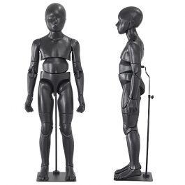 MANNEQUINS VITRINE ENFANT - MANNEQUIN ENFANT FLEXIBLE : Mannequin flexible enfant coloris noir