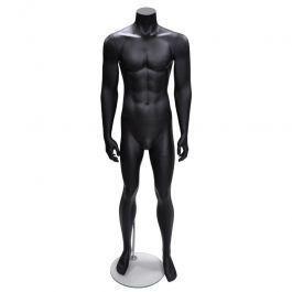 MANNEQUINS VITRINE HOMME - MANNEQUINS SANS TêTE : Mannequin homme sans tête droit noir