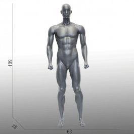 MANNEQUINS VITRINE HOMME - MANNEQUINS SPORT  : Mannequin homme sport position droite avec muscles