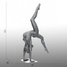 MANNEQUINS VITRINE ENFANT - MANNEQUINS ENFANT SPORT : Mannequin vitrine enfant gymnaste