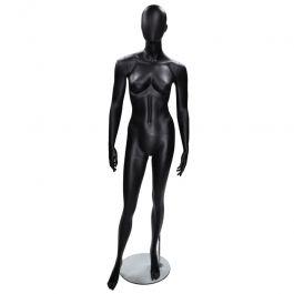 MANNEQUINS VITRINE FEMME - MANNEQUINS ABSTRAITS  : Mannequin vitrine femme abstraite coloris noir