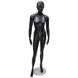 MANNEQUINS VITRINE FEMME - MANNEQUINS STYLISéS : Mannequin vitrine femme couleur noire avec socle