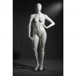 MANNEQUINS VITRINE FEMME - MANNEQUINS FEMME FORTE : Mannequin vitrine femme forte coloris blanc