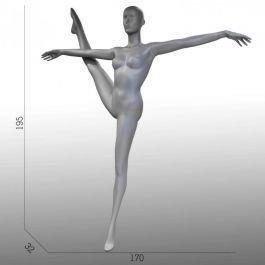 MANNEQUINS VITRINE FEMME - MANNEQUIN SPORT  : Mannequin vitrine femme gymnaste