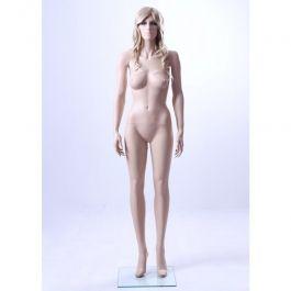 MANNEQUINS VITRINE FEMME : Mannequin vitrine femme realiste avec base verre