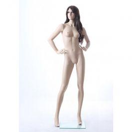 MANNEQUINS VITRINE FEMME - MANNEQUIN RéALISTE  : Mannequin vitrine femme réaliste mains sur les hanches