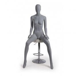 MANNEQUINS VITRINE FEMME - MANNEQUIN ASSIS  : Mannequin vitrine femme sans visage assise