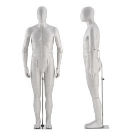 MANNEQUINS VITRINE HOMME - MANNEQUINS FLEXIBLES : Mannequin vitrine flexible gris