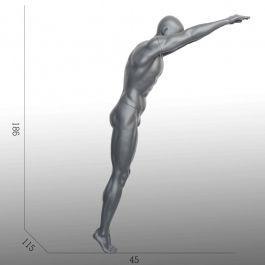 MANNEQUINS VITRINE HOMME - MANNEQUINS SPORT  : Mannequin vitrine homme nageur