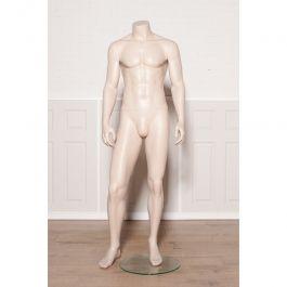MANNEQUINS VITRINE HOMME - MANNEQUINS SANS TêTE : Mannequin vitrine homme sans tête couleur chair