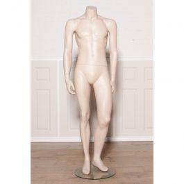 MANNEQUINS VITRINE HOMME - MANNEQUINS SANS TêTE : Mannequin vitrine homme sans tête et couleur chair