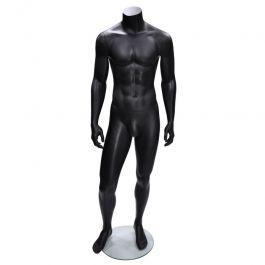 MANNEQUINS VITRINE HOMME - MANNEQUINS SANS TêTE  : Mannequin vitrine homme sans tête noir