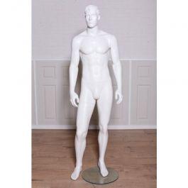 NOUVEAUTÉ : Mannequin vitrine homme stylisé blanc
