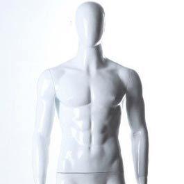 Mannequins abstraits Mannequin vitrine homme tête abstraite position droite Mannequins vitrine