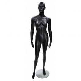MANNEQUINS VITRINE FEMME - MANNEQUINS ABSTRAITS  : Mannequins femme abstrait coloris noir position droite