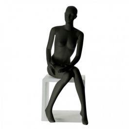 MANNEQUINS VITRINE FEMME - MANNEQUIN ASSIS  : Mannequins femme abstrait vir.mer-f black