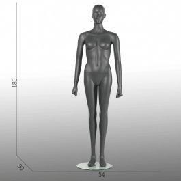 MANNEQUINS VITRINE FEMME - MANNEQUIN SPORT  : Mannequins vitrine sport femme gris