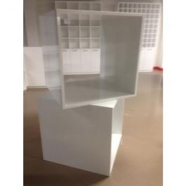 MATERIEL AGENCEMENT MAGASIN - CUBES : Mega cuble glossy blanc