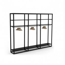RETAIL DISPLAY FURNITURE - SHELVES GONDOLAS : Metal shelving unit 4 levels for shop
