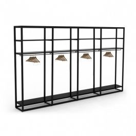 RETAIL DISPLAY FURNITURE - GONDOLAS FOR STORES : Metal shelving unit 4 levels for store xl
