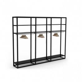 MATERIEL AGENCEMENT MAGASIN - GONDOLES MAGASIN : Meuble étagères métal 4 niveaux pour magasin