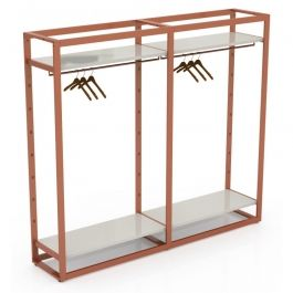 RETAIL DISPLAY FURNITURE - GONDOLAS FOR STORES : Modular system carrying and white shelf