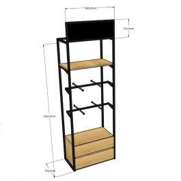 RETAIL DISPLAY FURNITURE - SHELVES GONDOLAS : Modular wall cabinet single unit with shelves facing